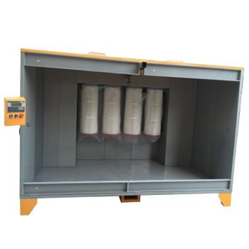 Big spray booth with PLC