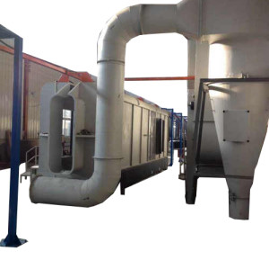 powder coating booth with Mono cyclone