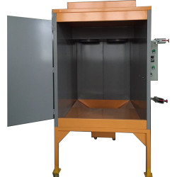 Kleine Pulverbeschichtungs kabinen mit Tür