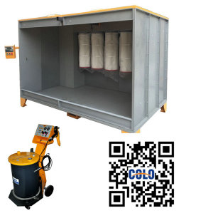 Powder spraying equipment
