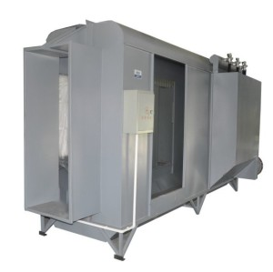Semi auto powder spray booth