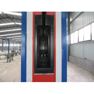 Automatic powder coating oven
