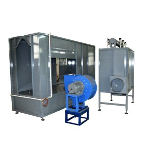 Manual powder painting spray booth