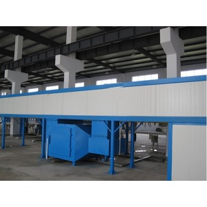 Industrial tunnel powder coating oven