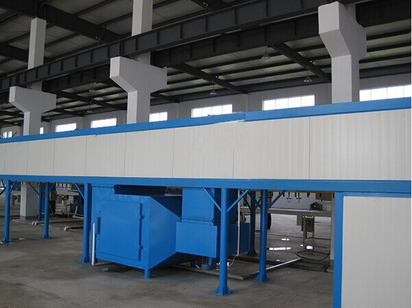 Industrial tunel powder coating oven
