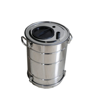 Powder coating hopper container