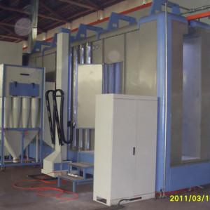 Powder coating cyclone reclaim
