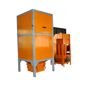 Cyclone for powder painting booth