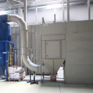 Multi-cyclone powder spray booth system