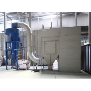 Multi-cyclone powder spray booth system
