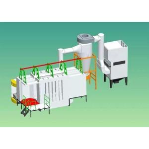Epoxy auto mono cyclone spray booth machine