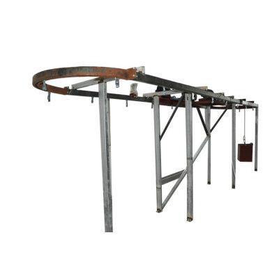Systémy horního dopravníku pro linku práškového lakování