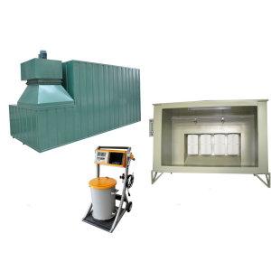 Powder coating finishing systems