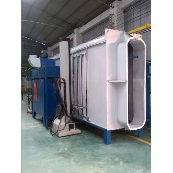 Automatic powder spray booths