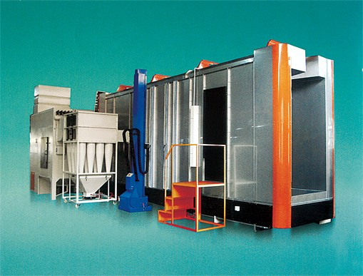 cyclone powder recovery booths