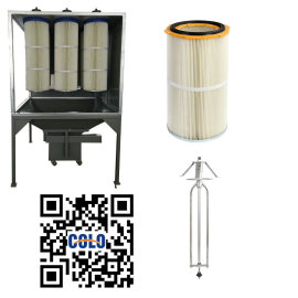 Filter cartridges recycle systems powder painting