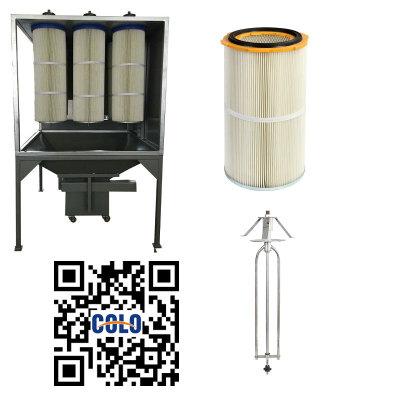 Filtrační kazety recyklovat systémy práškové lakování
