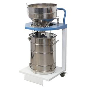 Powder coating sieving machine