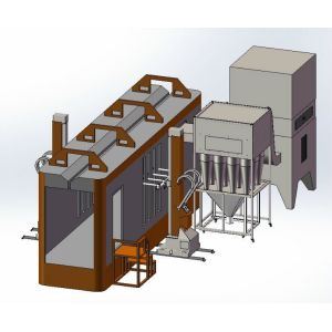 Cabinas para aplicacion en polvo por multi ciclon