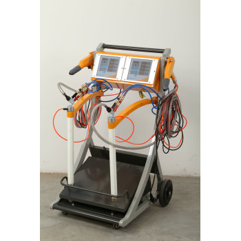 Dual system vibrator Powder coating machine