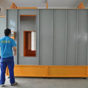 Manual cabinas para pintar el polvo