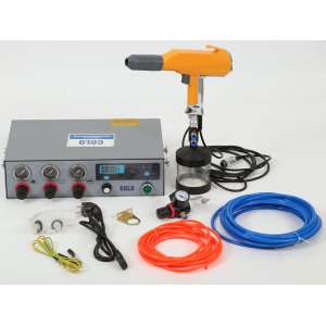 Powder coating testing spray machine