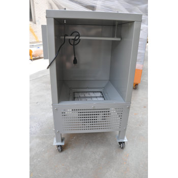 Small testing powder coating spray booth