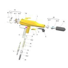 pulver pistole Ersatzteile