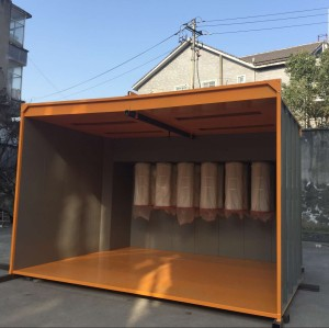 4meter Long manual powder spray booth