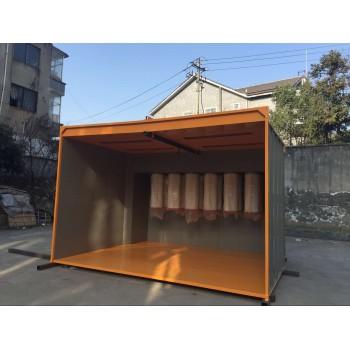 4meter Long manual powder spray booth