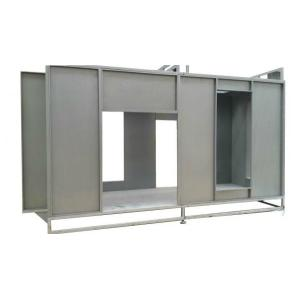 Coating booth for powder application
