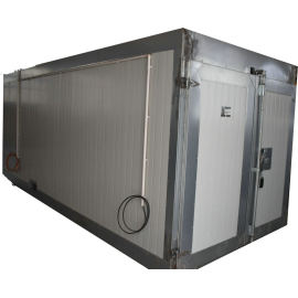 Gas powered industrial powder curing oven