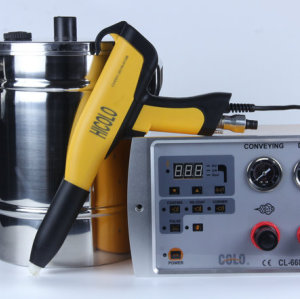 Portable electrostatic powder paint gun