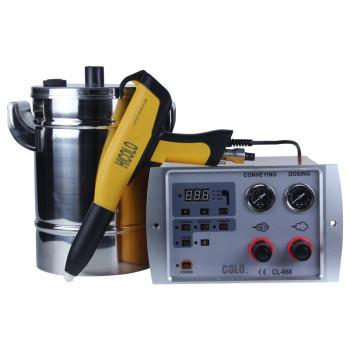 Portable electrostatic powder paint gun