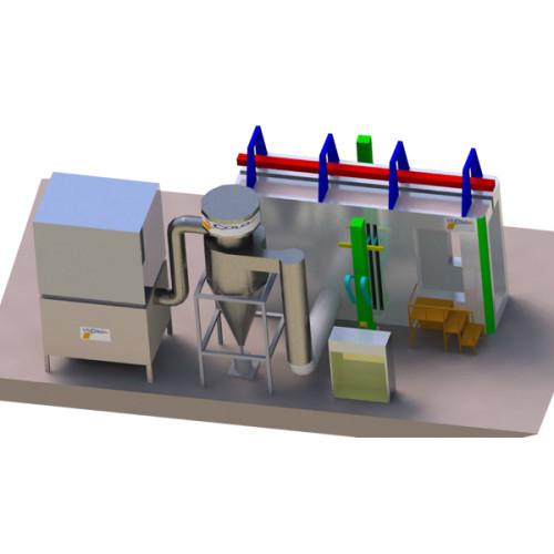 Automatic cabina de pintura con Mono ciclon
