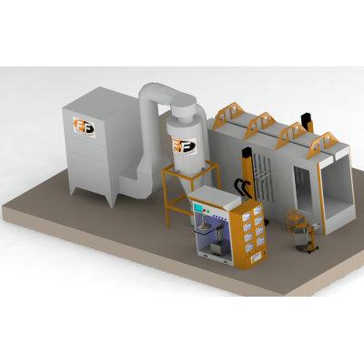 Cyklonový regenerační systém pro ruční nebo automatické kabiny
