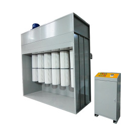 Ideal powder coating booth for big parts