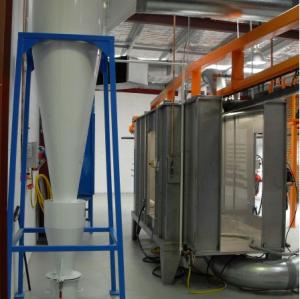 Powder coating cyclone reclaim booths