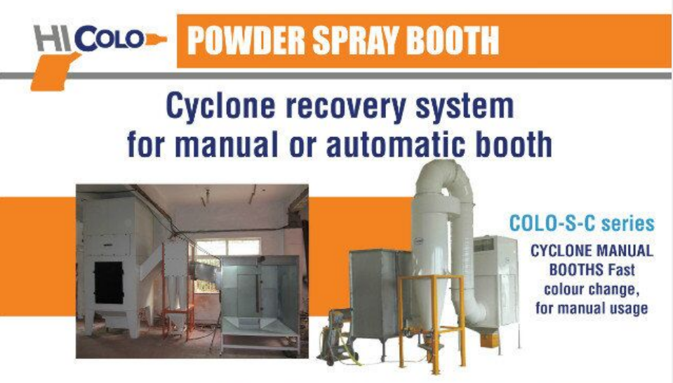 cyclone recovery systems powder spray booths