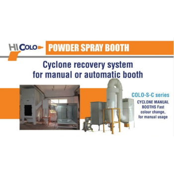 Cyclone recovery system for manual or automatic booths