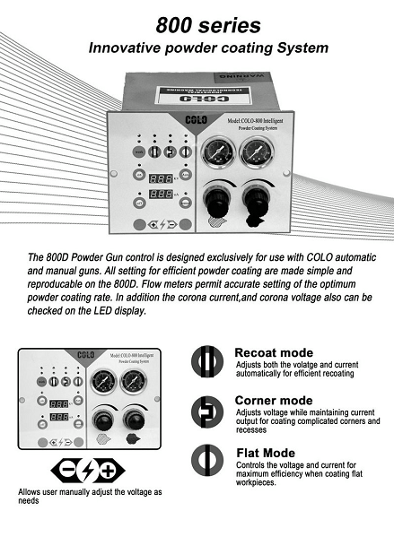 colo-800d powder coating machine control unit