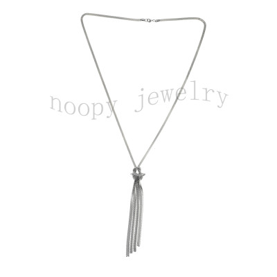 fashion snake chain knited tassels necklace