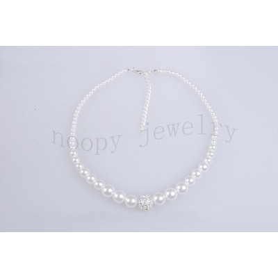 wholesale crystal stone pearl necklace