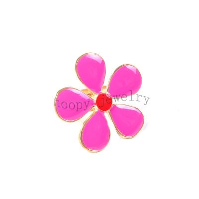 hot sale rose epoxy big flower  finger ring