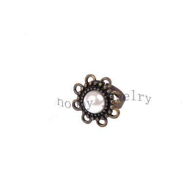 wholesale big pearl  finger ring