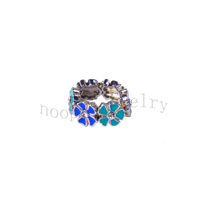 wholesale 6 pcs small epoxy flowers  finger ring