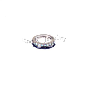 wholesale crystal AB and black stone wedding ring