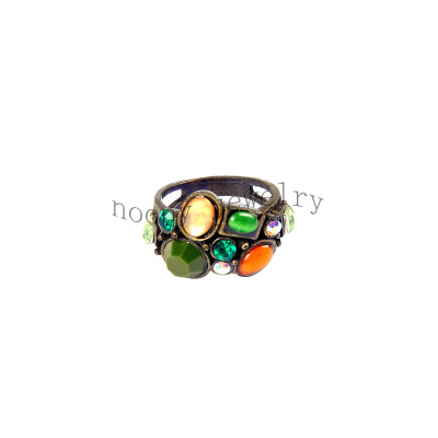 wholesale multi-color beads anti gold finger ring