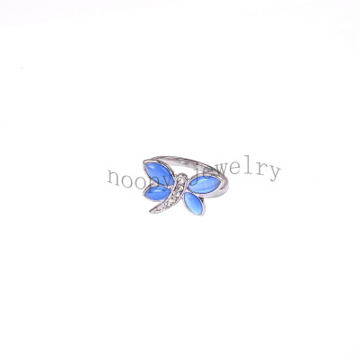 wholesale blue  dragonfly finger ring