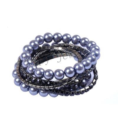 hot sale grey pearl and diamond bracelet